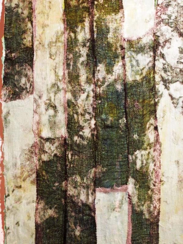 Bindegewebe, Acryl, Tusche und Mull auf Papier, 60×40 (verkauft)