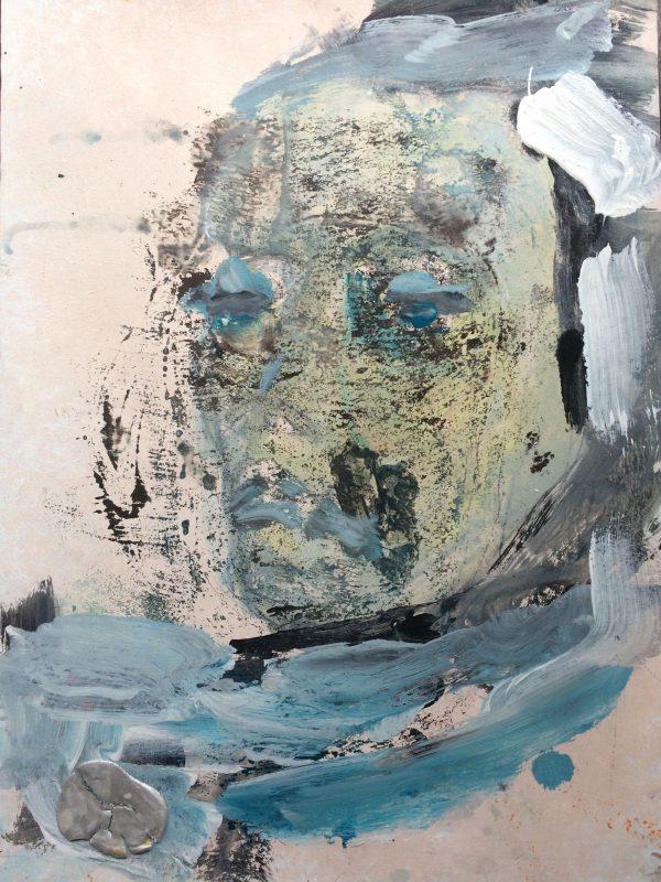 Les yeux de la tete, Gouache auf Papier, 60/40