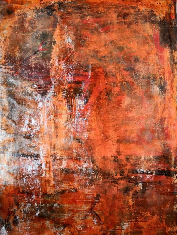Orangenhaut, Acryl und Pigment auf Leinwand, 100×70