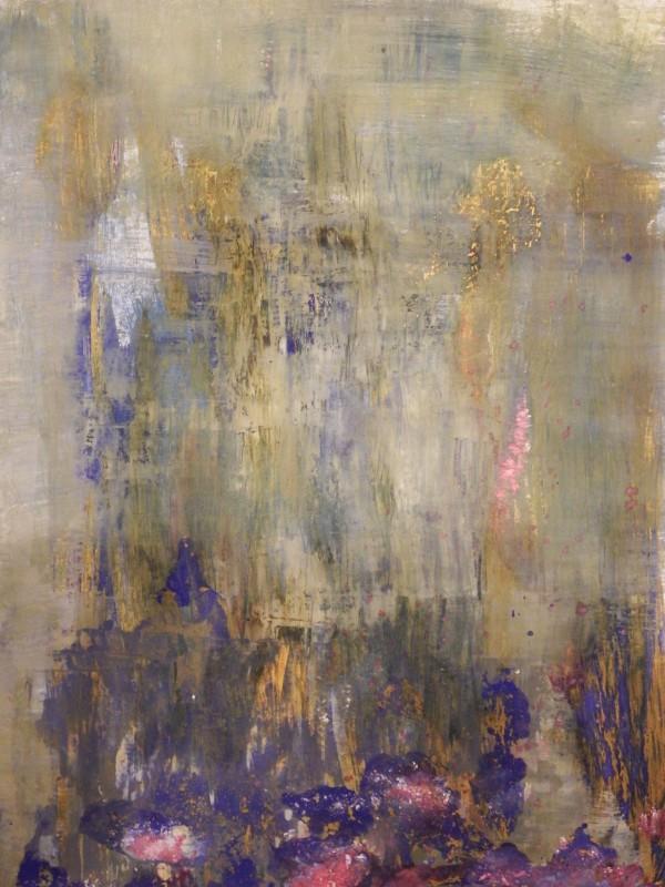 Seerosenteich, Acryl auf Papier, 40×30