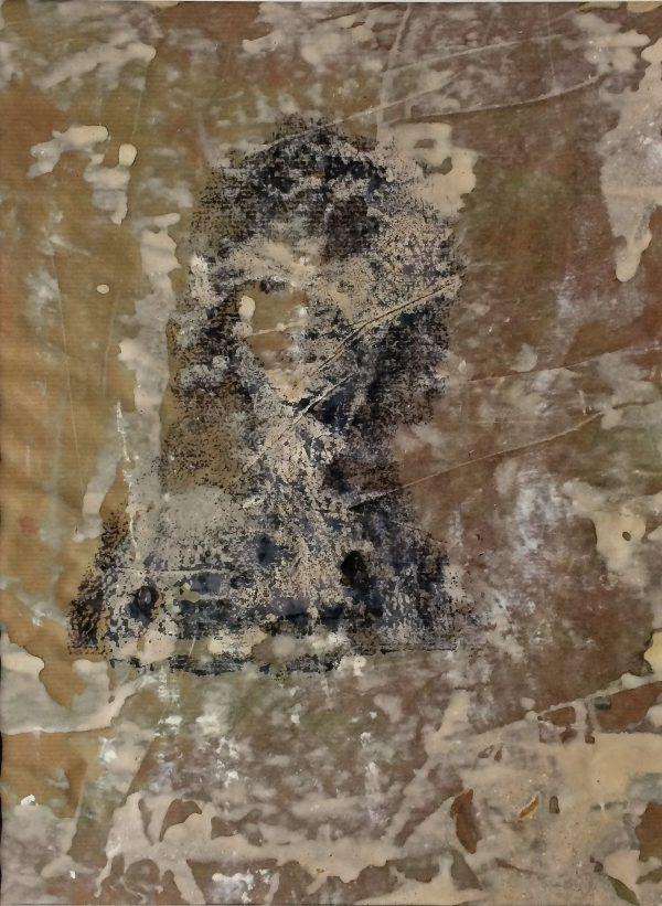Genien I, Acryl, Inkjet-Druck auf Papier, 40/30
