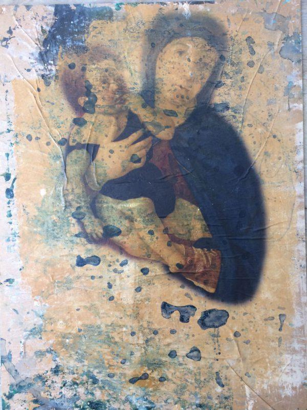 My handsome Saints I, Mischtechnik auf Papier auf Dibond, 40/30
