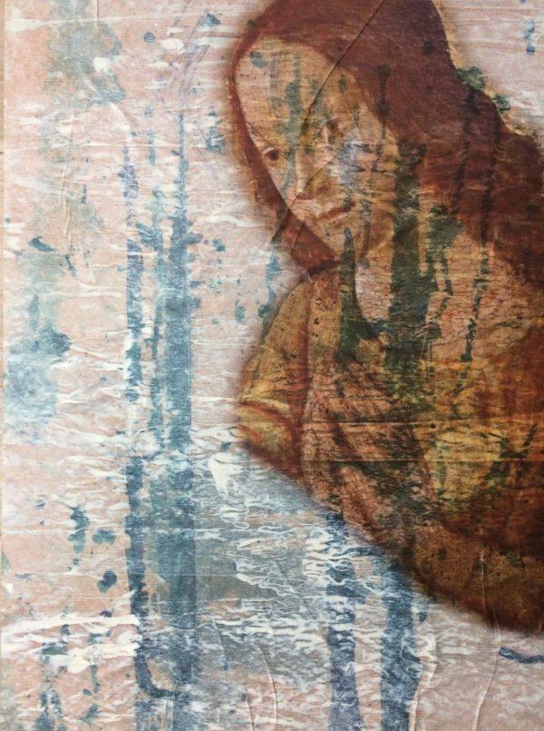 My handsome Saints II, Mischtechnik auf Papier auf Dibond, 40/30