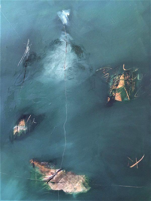 Freefloat, Öl auf Leinwand, 90-70