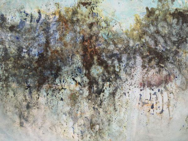 L'aquaplano, Mixed Media auf Leinwand, 100-150