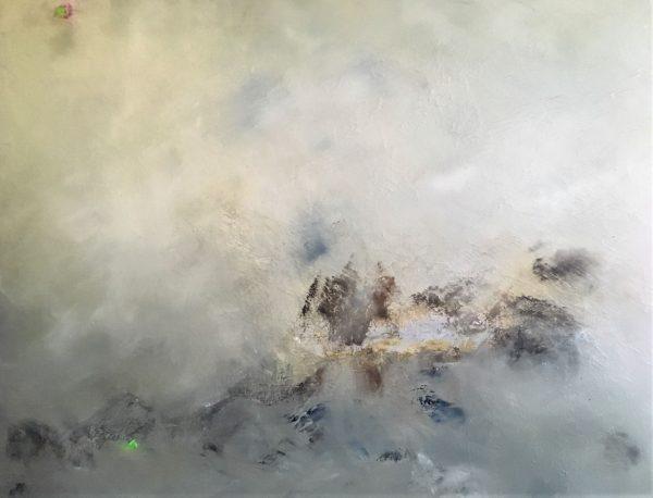 Volcano God, Öl, Lack auf Leinwand, 100-120