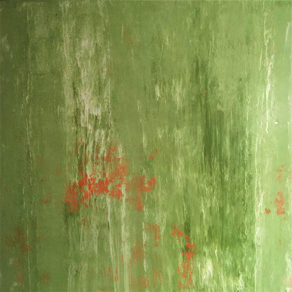 A simple twist of fate, Öl, Lack, Tusche auf Leinwand 120-120