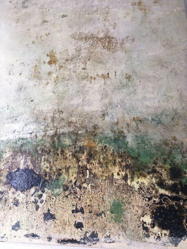 Verweht und unerkenntlich, Öl, Lack, Pigment auf Leinwand, 120-90